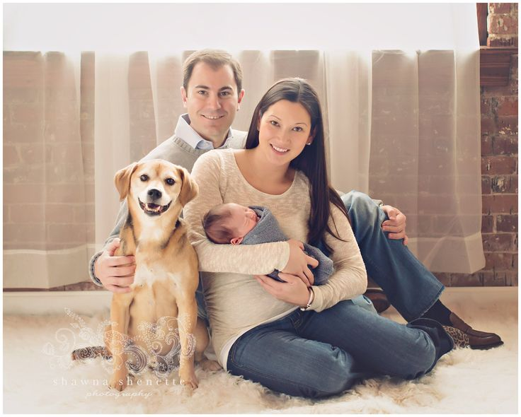 Newborn Baby Boy with Family and Dog Photo Inspiration  www.shawnashenette.com Millbury, MA Newborn Baby Photographer
