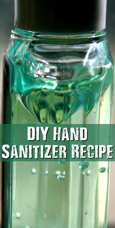 DIY Hand Sanitizer Recipe Hand sanitizer, Diy, Survival