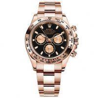 Rolex Daytona noir Index Cadran 18k Rose Gold Oyster Bracelet