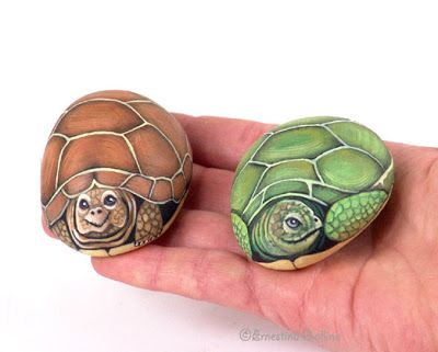 Sassi a p arte tartarughe turtles painted stones for Sassi per tartarughe