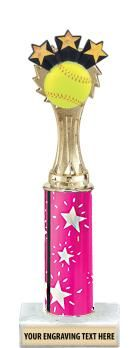 Pink Column  Softball Trophy