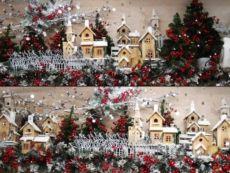 Idea creativa per decorazioni natalizie