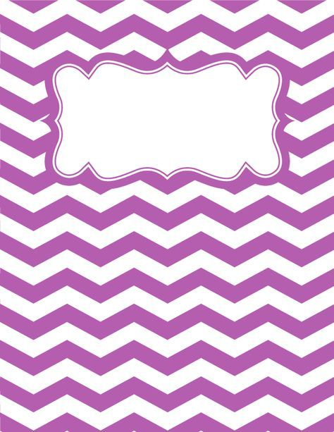 Free printable purple and white chevron binder cover template. Download the cover in JPG or PDF format at http://bindercovers.net/download/purple-and-white-chevron-binder-cover/
