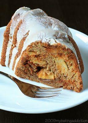 apple cinnamon chip bundt cake {My Baking Addiction}