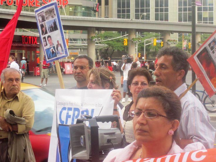 تظاهرات در تورنتو کانادا