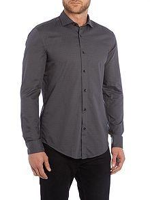Ridley slim fit tonal square print shirt