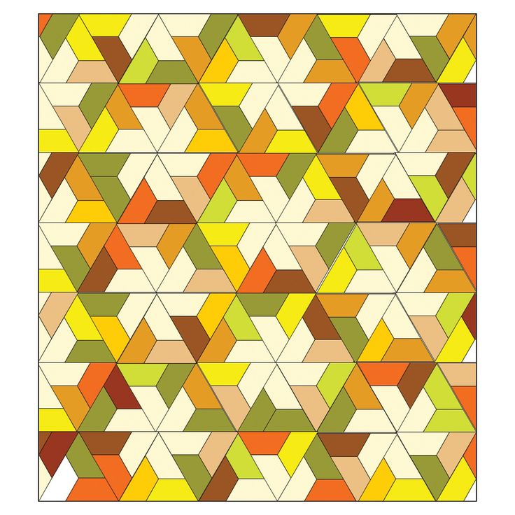 """GO! Twirling Star Quilt (PQ10294) - made with the GO! Half Hexagon-4 1/2"""" Sides (4 1/4"""" Finished) (55437)"""