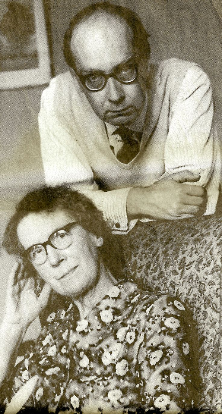 "Larkin & ma-kin. Philip Larkin inscribed on the back of this photograph, ""Happy as the day is long""."
