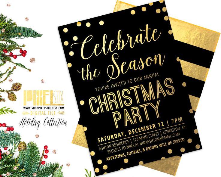 33 besten PixelStix Christmas Party Invitations Bilder auf Pinterest