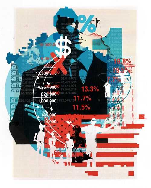 New Scientist / 'Inequality' - Alex Williamson, Images commissioned to illustrate article on inequality and the wealth of the 1%.