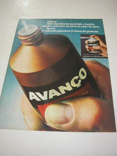 ( l 290/ g ) propaganda antiga gillette desodorante avanço