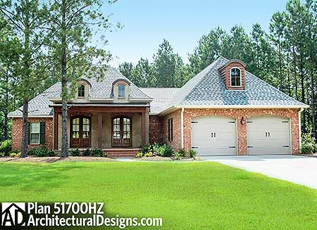 Acadian house plan 51700hz get 3 or 4 beds with the flex for Get house plans