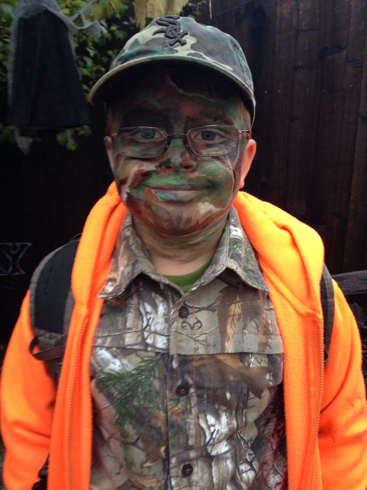 Camo Face Paint For Child S Hunter Costume Halloween