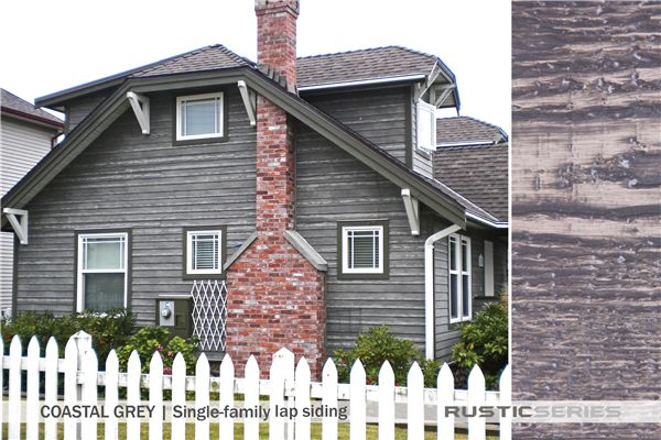 Woodtone Rustic Series Home Coastal Grey House