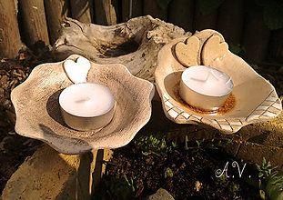 Svietidlá a sviečky - Keramické svietničky na čajovú sviečku... - 8334011_