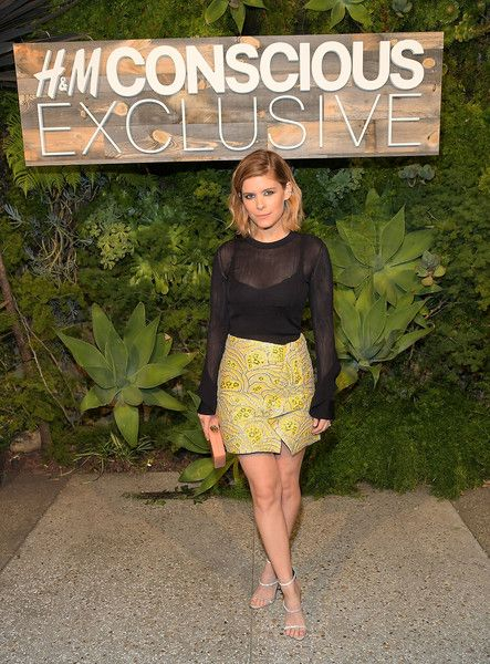 Kate Mara attends the H and M Conscious Exclusive Dinner at Smogshoppe on March 28, 2017 in Los Angeles, California.