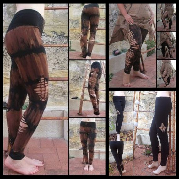 Plus Size Tie dye Braided Leggings pixie Tribal by EarthBoundTribe