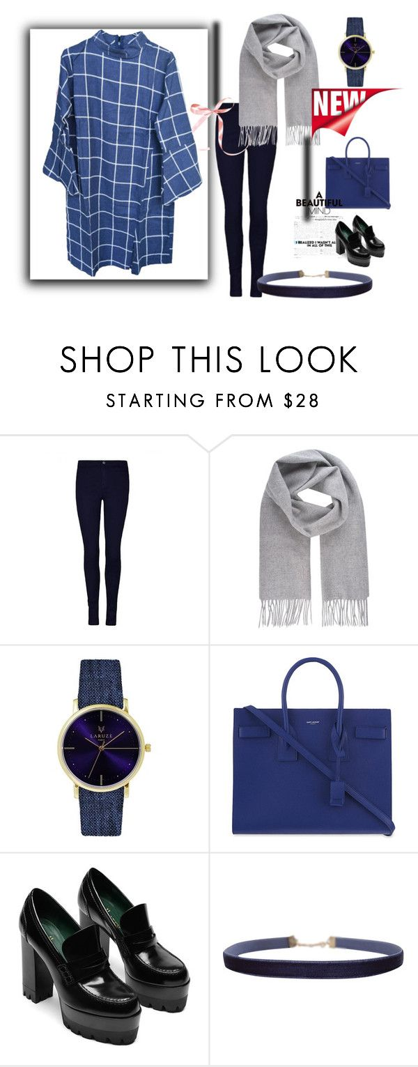 """""""Flare square"""" by datenusa on Polyvore featuring Vivienne Westwood, Laruze, Yves Saint Laurent and Humble Chic"""