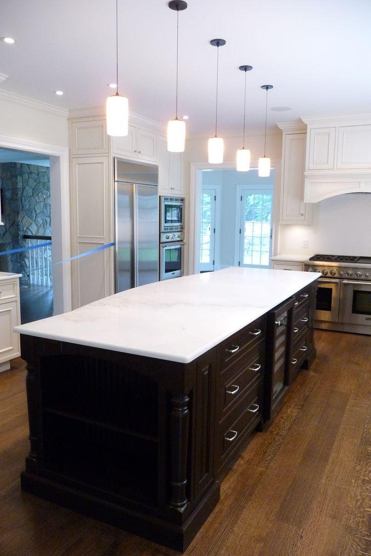 Island Cabinetry: Cabico Beaded Inset, Door Style 565 Venice Stain On  Cherry   Countertop: Granite Cremo Delicato