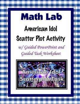 This is a task on scatter plots using the show American Idol.   Students compare and graph the viewers of the season premieres and season finales.  Included is a guided worksheet, and a PowerPoint.