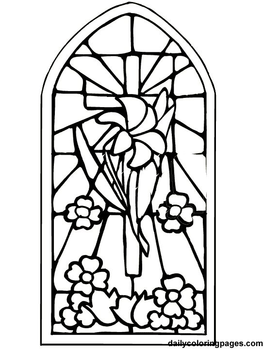 Easter cross coloring page embroidary/decorative stiches