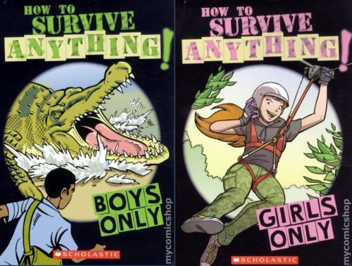 Gendered Survival Guides for Kids (click thru for analysis)