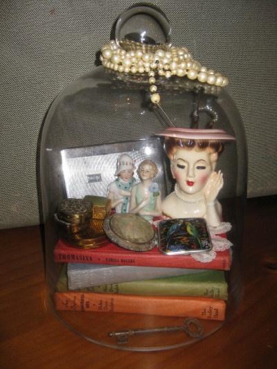 1950's lady head vase....