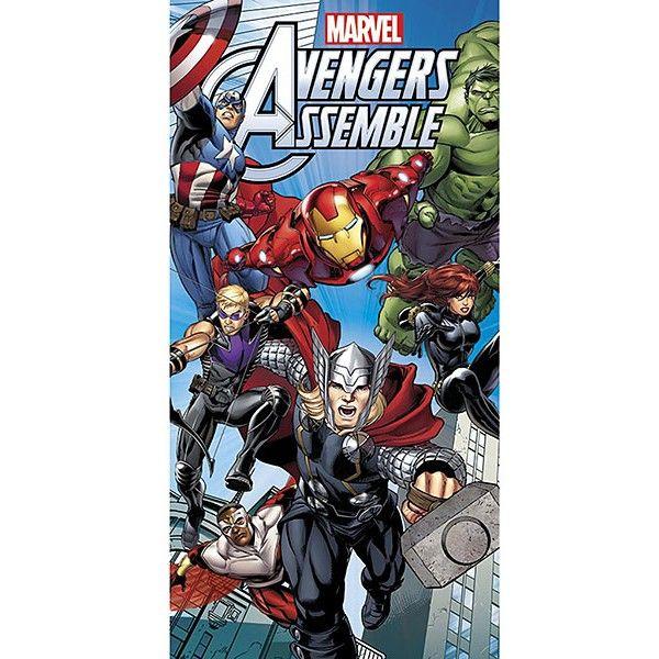 Marvel Avengers badehåndklæde til børn, med motiv af Thor, Hulk, Ironman, Captain America, Black widow og Eagle Eye