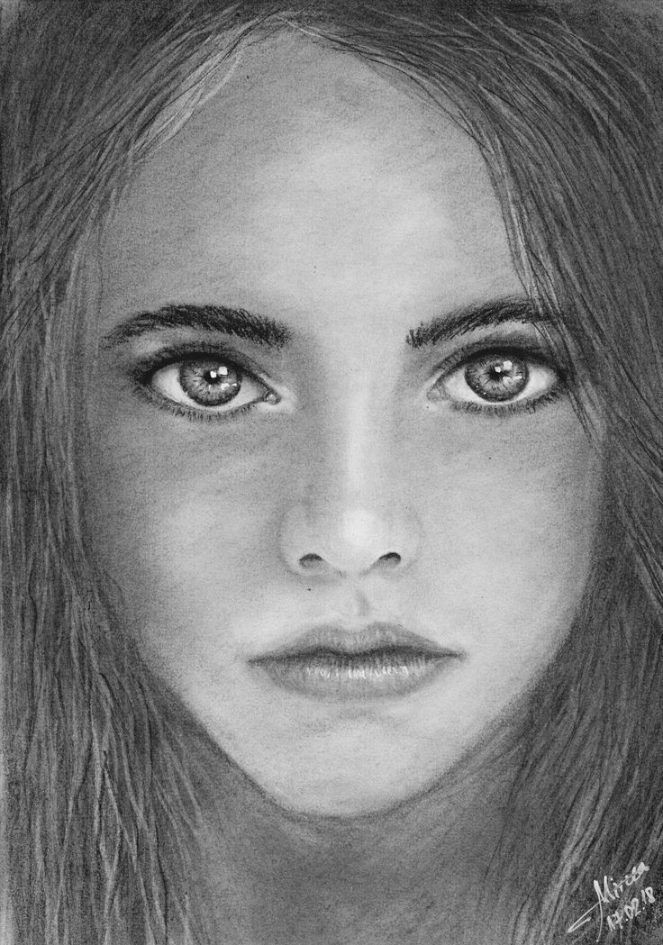 """Deep eyes"" drawing charcoal by Mircea Craciunel."