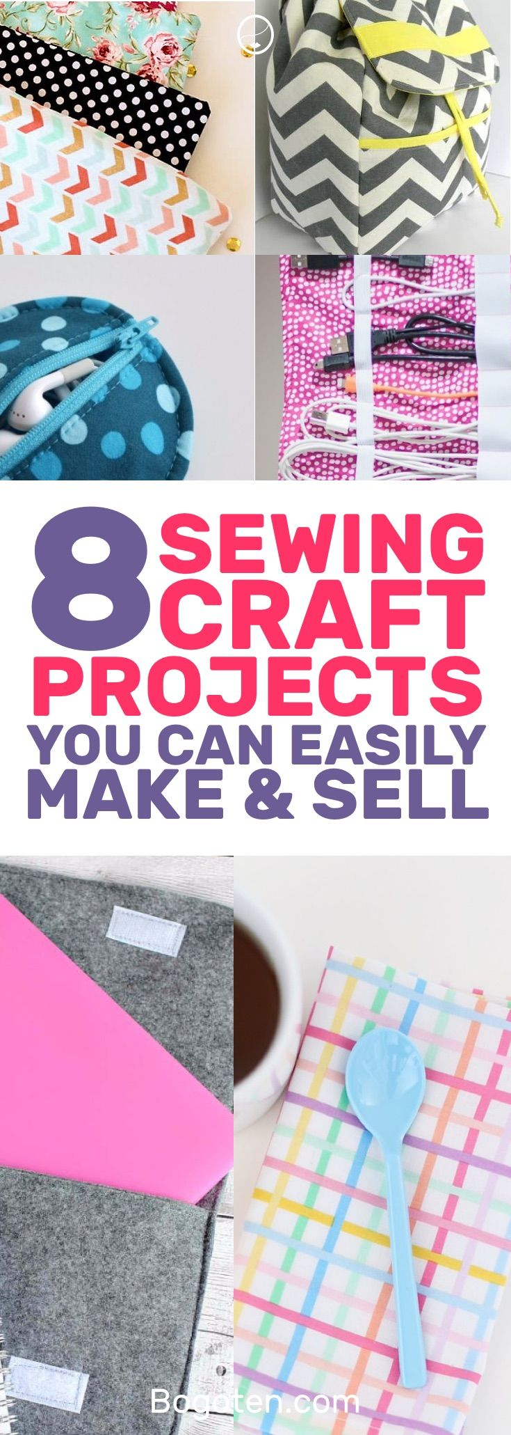 Looking for some easy things to sew so you can get your feet wet in the DIY world? These simple craft projects will get you started. #DIY #Sewing #Crafts