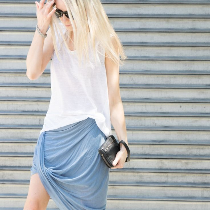 figtny.com | outfit • 54 Zara Draped skirt + Helmut Lang tee