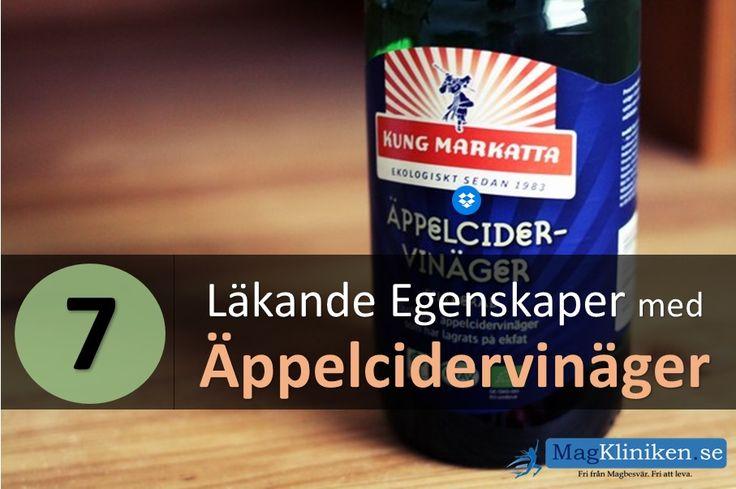 7 läkande egenskaper med äppelcidervinäger