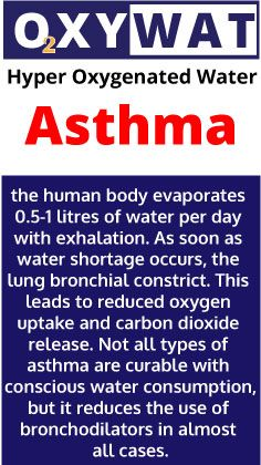 Asthma remedies : OxyWat Hyper Oxygenated Water for Your Health. 2000mg medically pure Oxygen in 1 litre of water