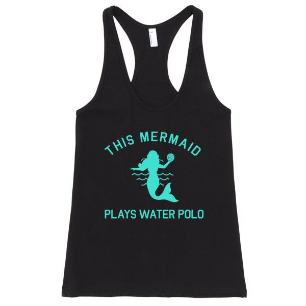 This Mermaid Plays Water Polo ladies tank top (turquoise)