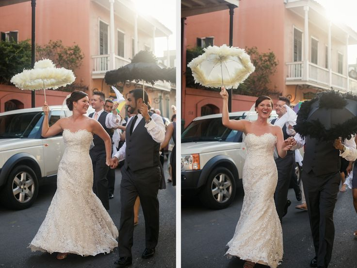 Reality New Orleans Wedding Second Line Parasols La At The Royal