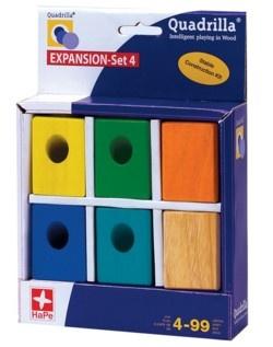 Quadrilla EXPANSION Set 4 (6 wooden blocks)