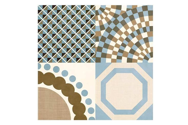 Avant Garde tiles have been designed by prestigious designer Francisco Segarra, known for his vintage furniture.  Avant Garde is a wonderful contemporary mix of patterns, each tile has a composition of four patterns in muted brown and beige tones with a beautiful cyan colour which adds a fresh edge to the designs.  This simply stunning range consists of eleven varied designs, each box will be a random mix of these designs, once placed together makes a continuous design with out visible…