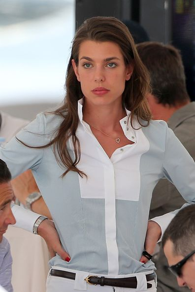 Charlotte Casiraghi again beautiful. Like her mother.