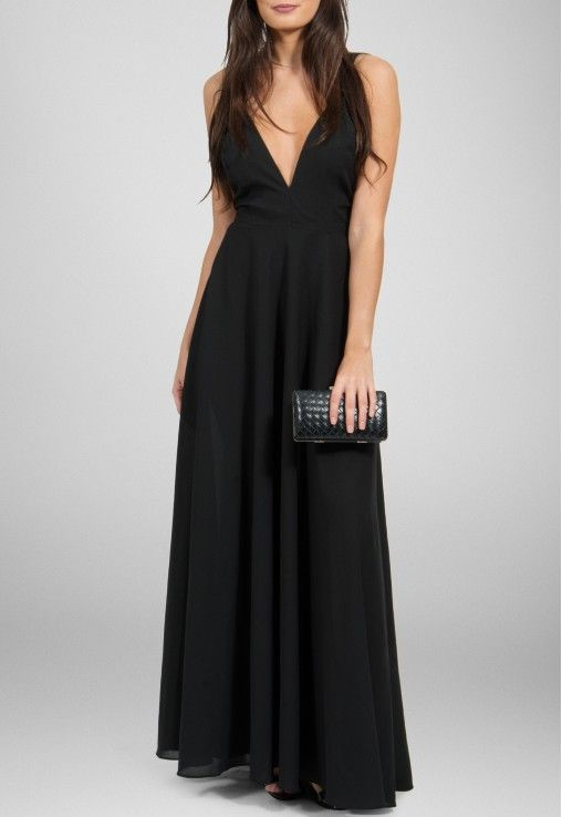 Vestidos pretos basicos longos