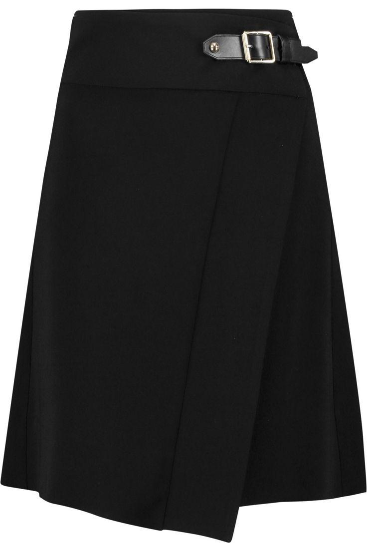 JUST CAVALLI Wrap-Effect Crepe Mini Skirt. #justcavalli #cloth #skirt