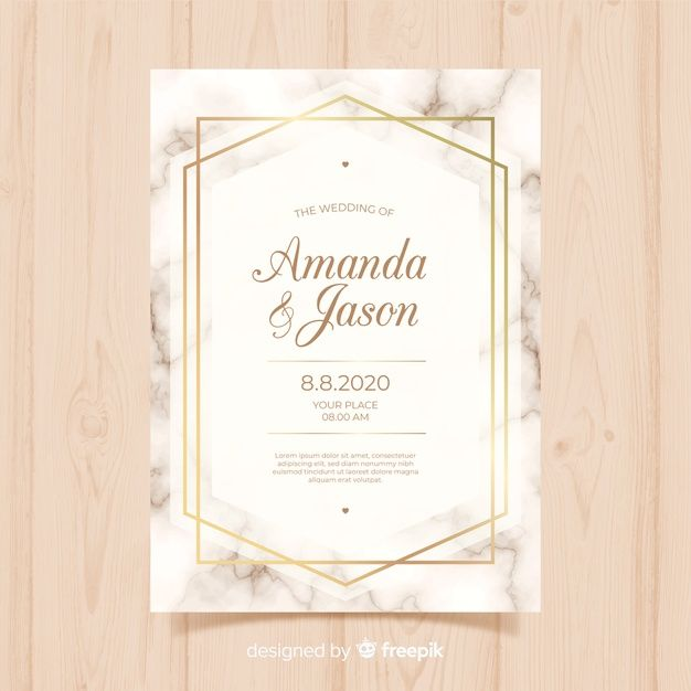 Wedding Card Template Premium Vector Freepik Vector