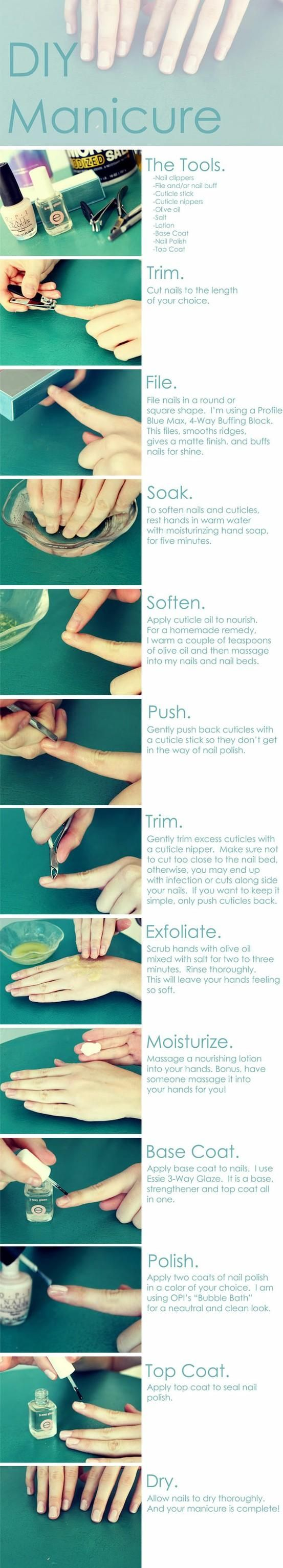 Laides you must try this!! DIY Manicure : I just treated myself to this and it was fantastic! I used Olive Oil and Epsom Salt to exfoliate!