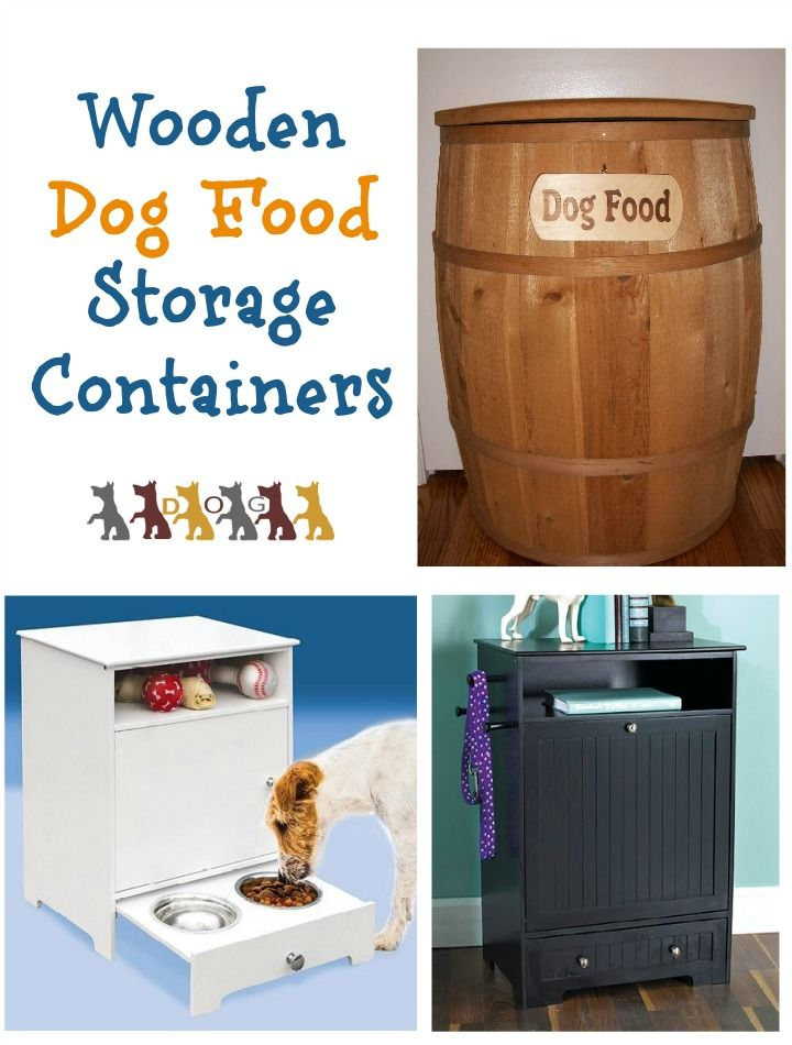 Keep your pup's chow tucked away in style with these classy yet practical wooden dog food storage containers! Check them out & pick your favorite!