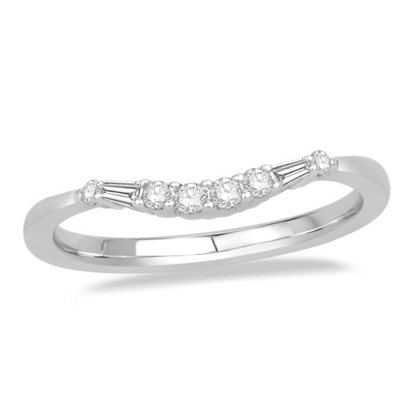 Curved Round And Baguette Band Beautiful Diamond Rings Pinterest Wedding