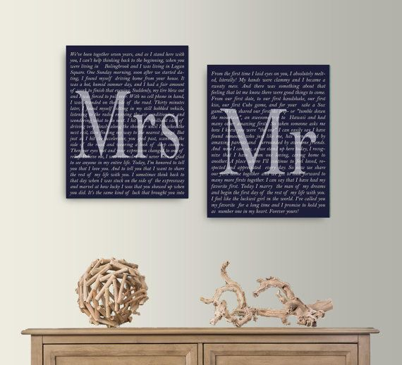 Set of 2 Wedding Vows Canvas, Mr. and Mrs Wedding Vow Canvas Art, Anniversary Gift Canvas, Custom Canvas Print,1 st Wedding Anniversary Gift