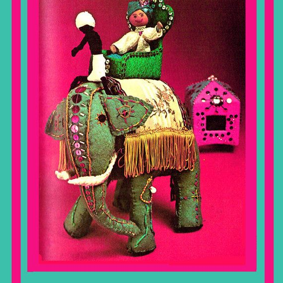 PDF 1970s Indian Elephant & Rider Toy Sewing Pattern