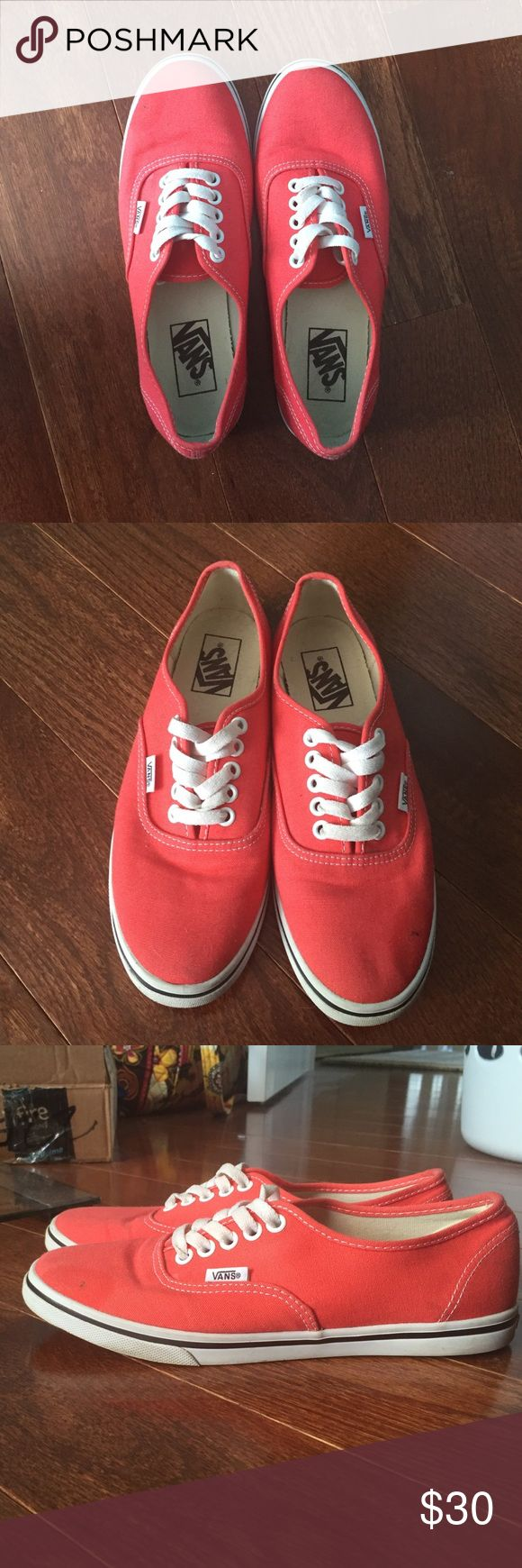 Vans coral pink Lo Pro shoes Authentic Vans Lo Pro classic shoes in coral pink. Size 6 men's, 7.5 women's. Great condition. Only worn a few times. Very minimal wear and tear. Great for adding a pop of color to your outfits! Vans Shoes Sneakers