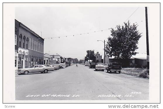 RP: Main Street , WINDSOR , Illinois , 30-40s ; East - Delcampe.com