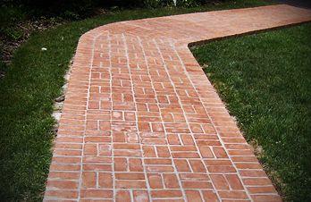 Traditional Brick Sidewalk
