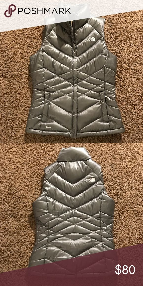 North Face Silver Vest Bought this on here. Like new condition. Too small for me. North Face Jackets & Coats Vests